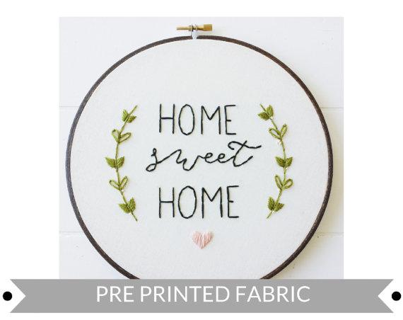 Home Sweet Home. Pre impreso tela patrón.