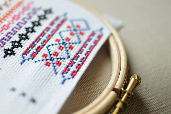 Cross stich pattern pack RUSSIAN BORDER FRAMES collection cross stitch