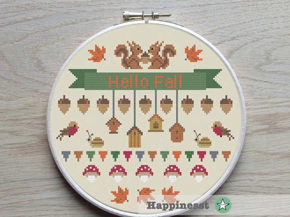 cross stitch pattern Fall, autumn