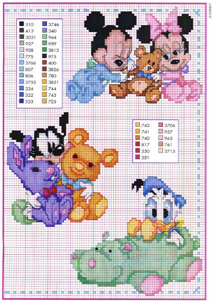 Baby Disney Cross Stitch Pattern
