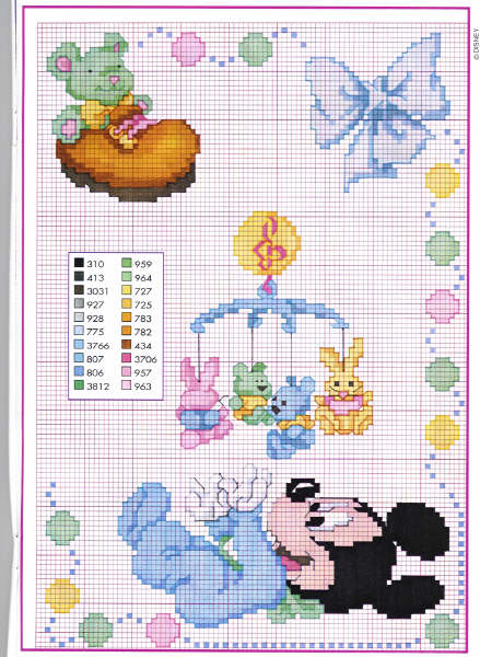 Mickey playing mobile Pattern