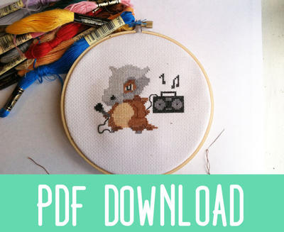 Cubone Thugs N Harmony Pokemon Cross Stitch Pattern