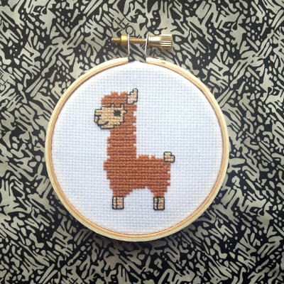 Cute Alpaca Cross Stitch Pattern
