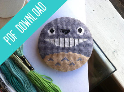 Totoro Studio Ghibli Cross Stitch Pattern