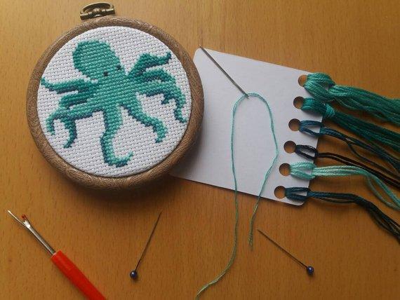 Octopus Cross Stitch Kit