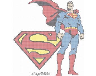 """Patrones de punto de cruz """"Superheroes"""""""