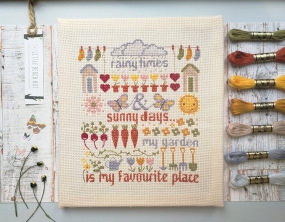 Cross stitch Sampler - my garden
