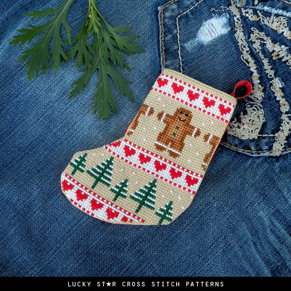 Cross Stitch Christmas Stockings Pattern
