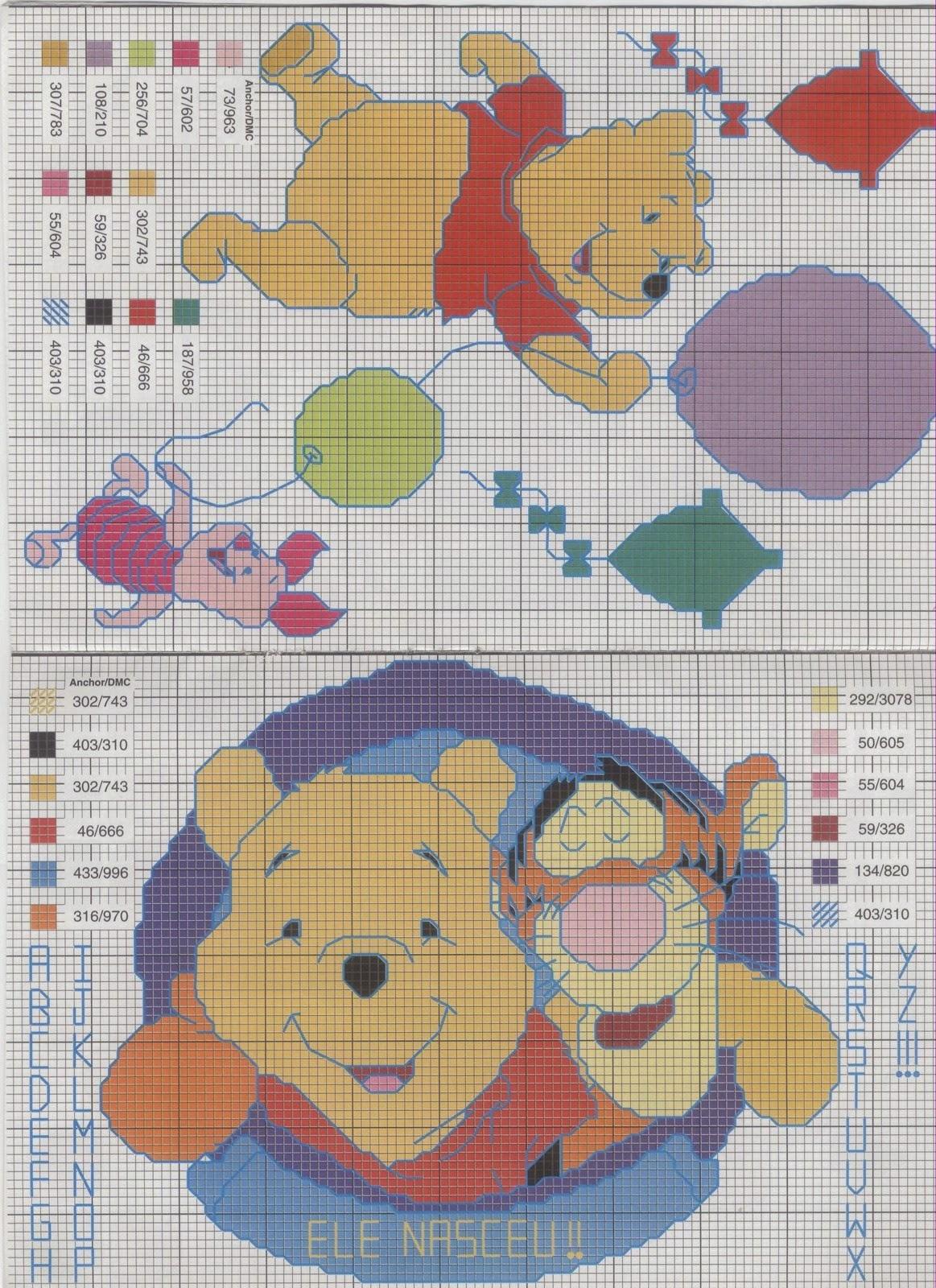 Diagramas Winnie de Po y Dumbo