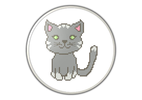 Cute cat - PDF cross stitch pattern