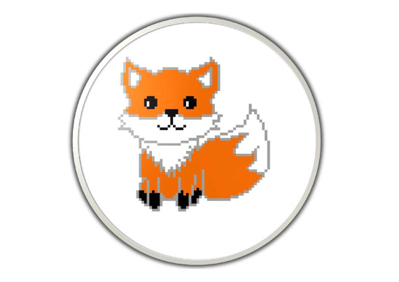 Cute fox - PDF cross stitch pattern