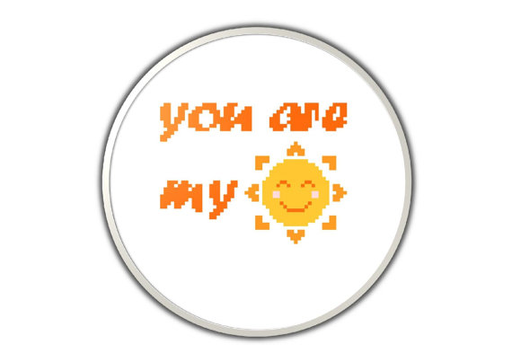 You are my sunshine - modern and original cross stitch pattern