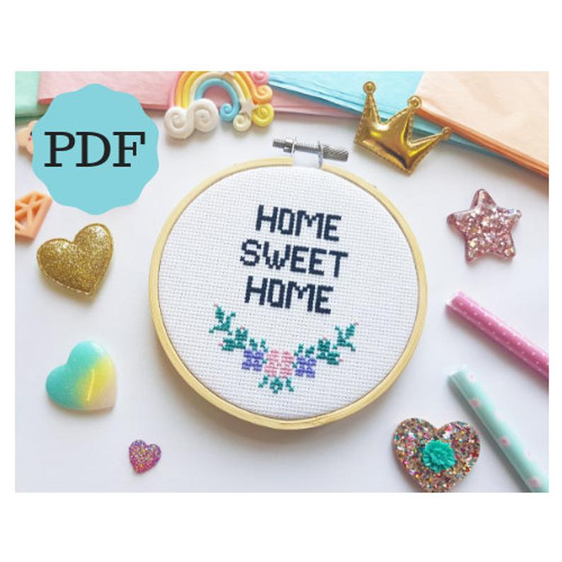 Home Sweet Home Cross Stitch PDF Pattern