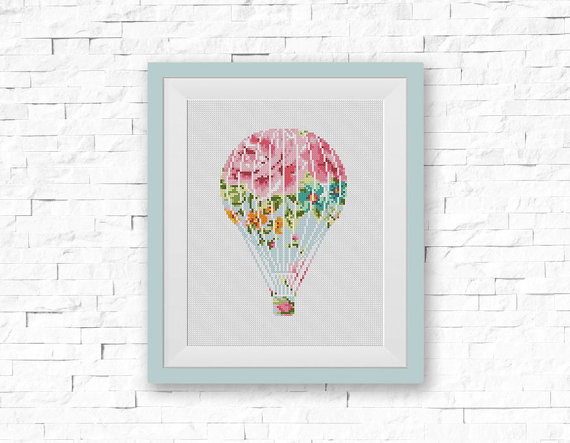 Air Balloon Cross Stitch Pattern