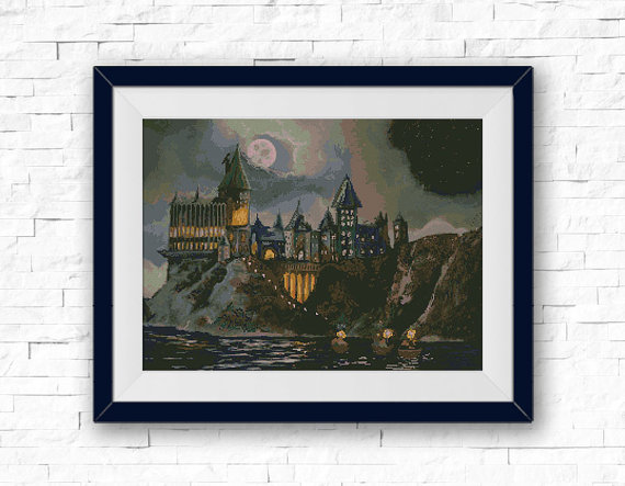 Hogwarts School Cross Stitch Pattern