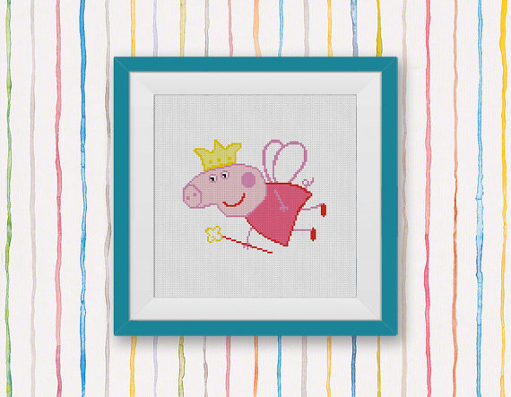 Peppa Pig Cross Stitch Pattern