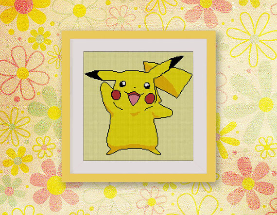 Pokemon Pikachu Cross Stitch Pattern