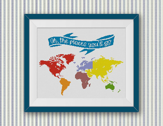 World Map Dr Seuss
