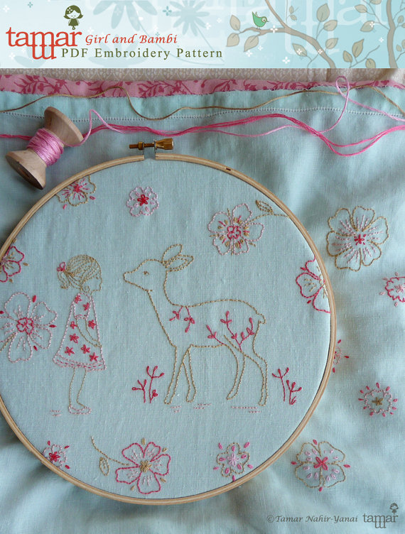 Bambi girl - Embroidery pattern
