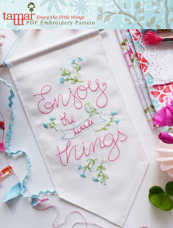 Enjoy the little things - Embroidery pattern