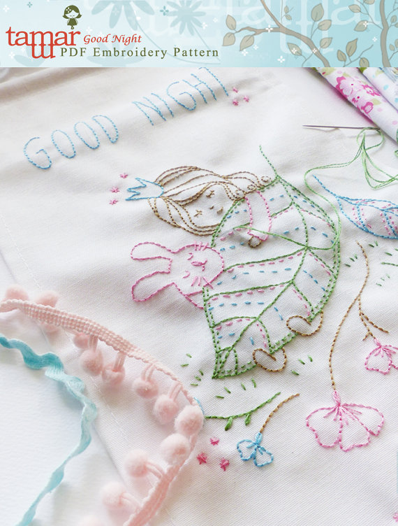 Good Night - Embroidery pattern