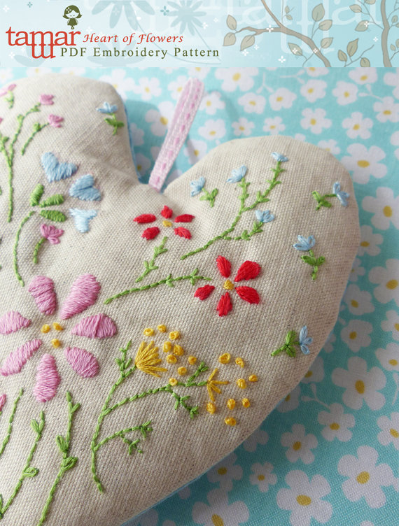 Heart of Flowers - Embroidery Pattern