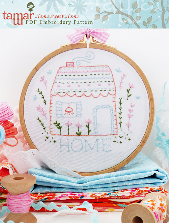 Home Sweet Home - Embroidery pattern