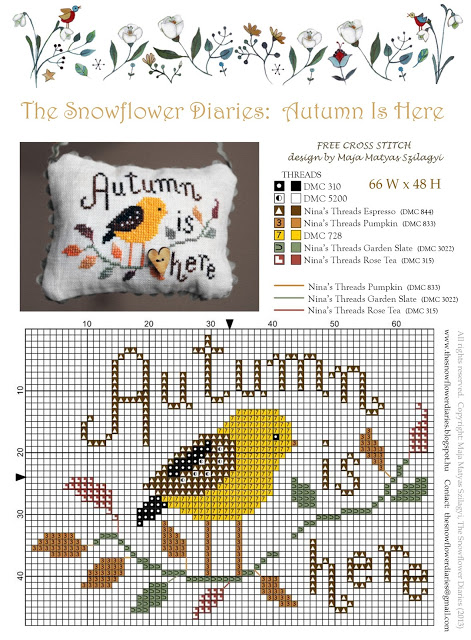 Autumn Is Here Cross Stitch Pattern