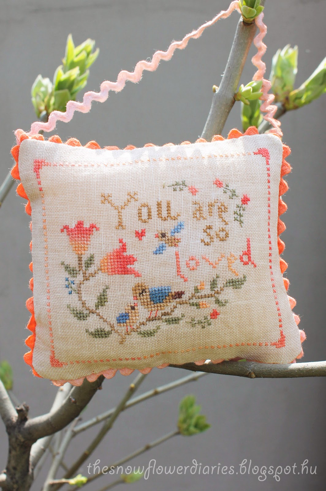 """You Are so Loved"" Cross Stitch Pattern"