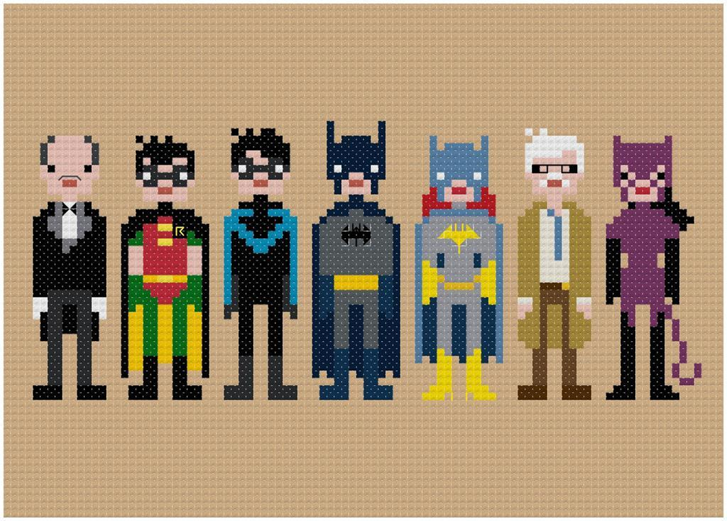 Batman & Friends - Pixel People
