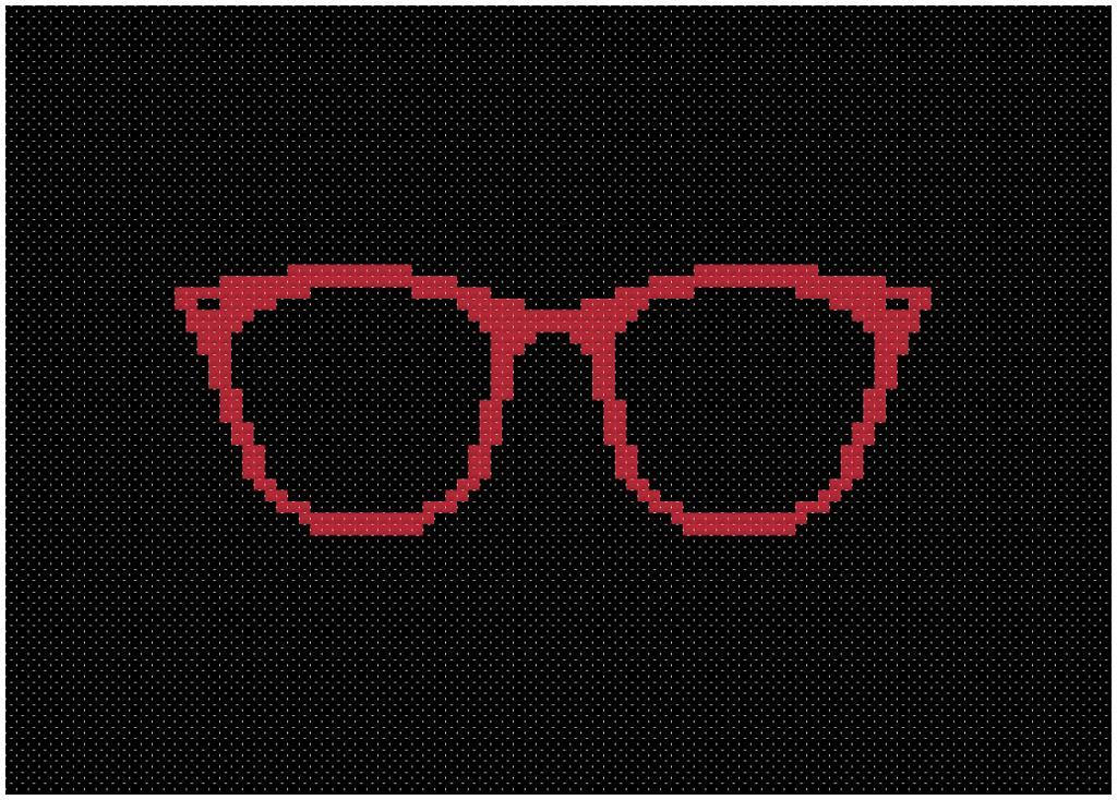 Horn-rimmed Glasses Cross-stitch