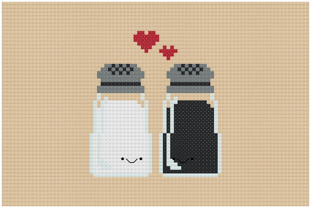 Kawaii Salt & Pepper Love