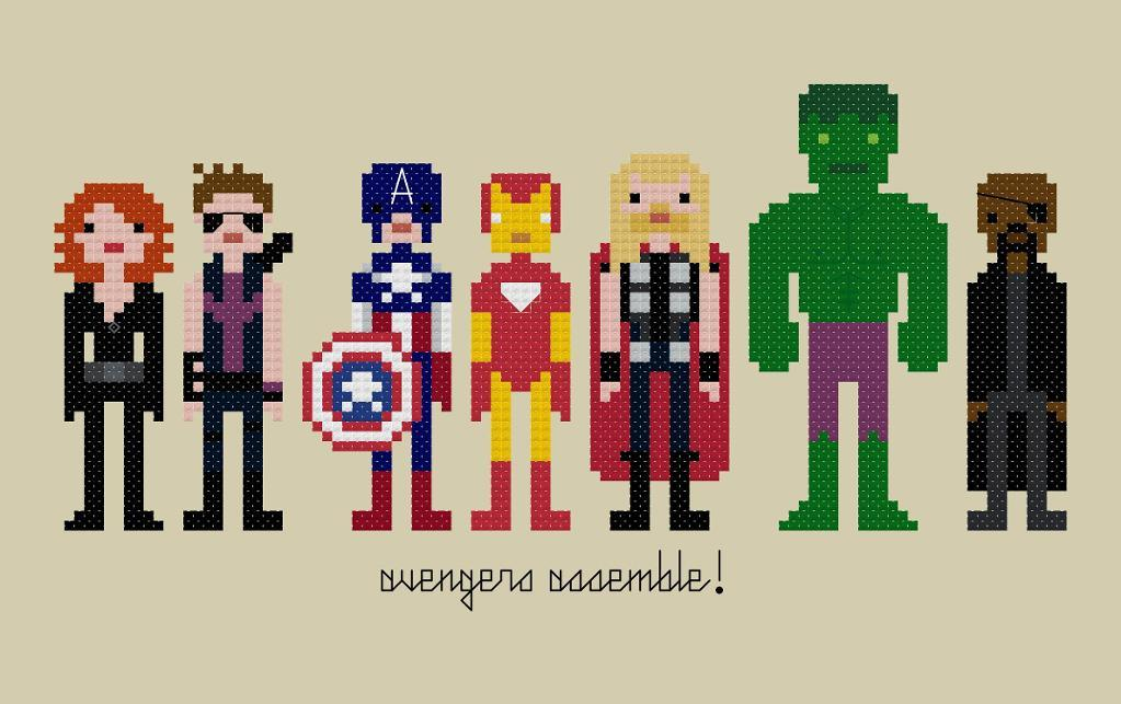 Pixel People - Avengers