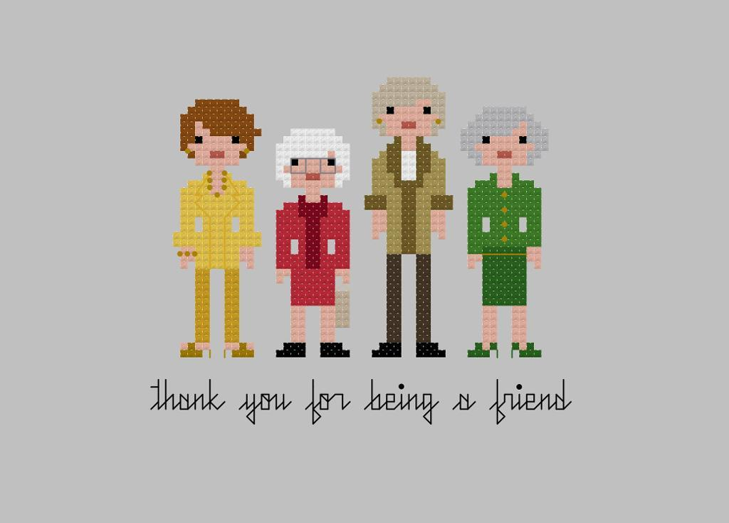 Pixel People - Golden Girls Cross-stitch