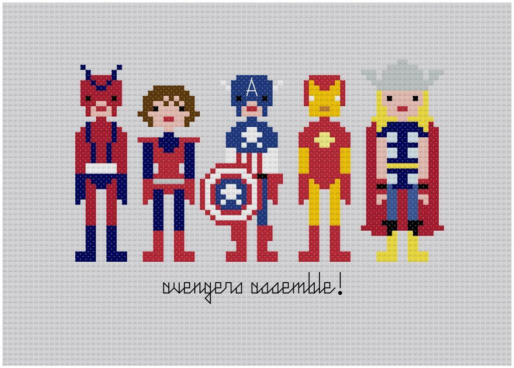 Pixel People - The Avengers